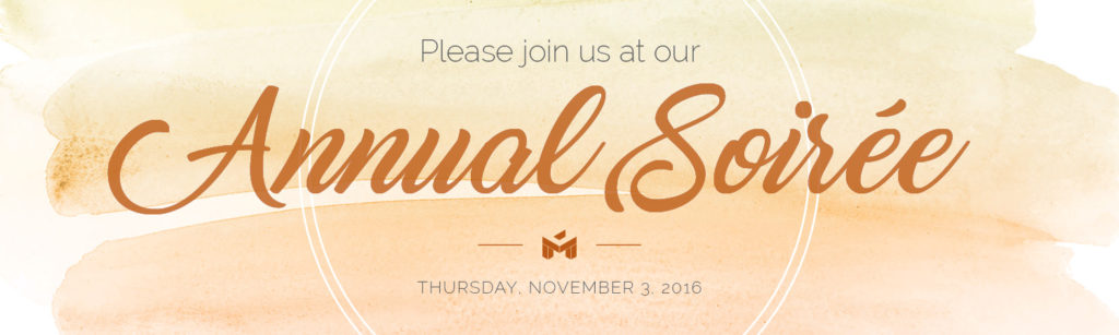 Please join us at the annual 2016 MAAC Soiree Thursday, November 3, 2016